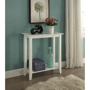 Carmel White Hall Table