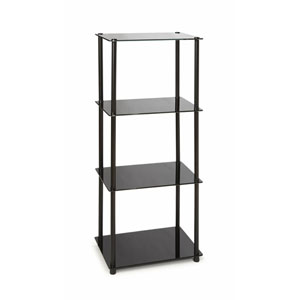 Midnight Classic Black Glass Four-Tier Tower