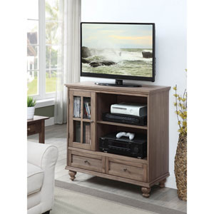 Tahoe Highboy TV Stand in Driftwood