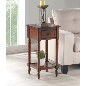 French Country Khloe Accent Table in Mahogany