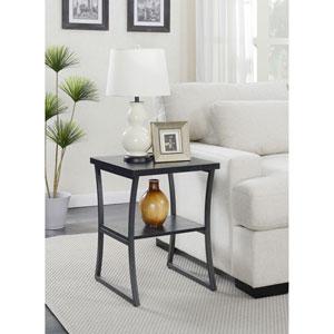 X-Calibur End Table in Black Woodgrain