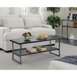 X-Calibur Coffee Table in Black Woodgrain