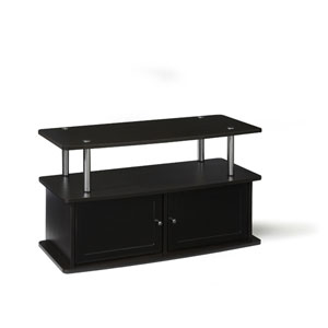 Designs2Go Espresso TV Stand with Two Cabinets