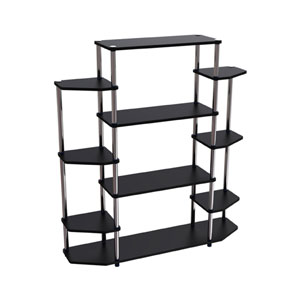 Designs2Go Black Wall Unit Bookshelf