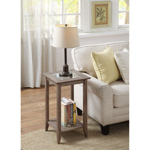 Carmel End Table in Driftwood