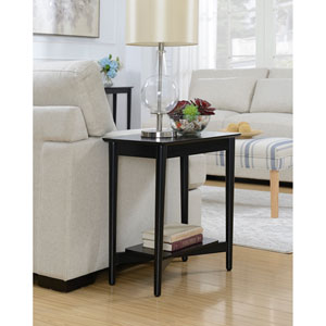 Savannah Mid Century Chairside Table in Black