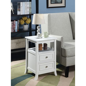 Melbourne End Table in White