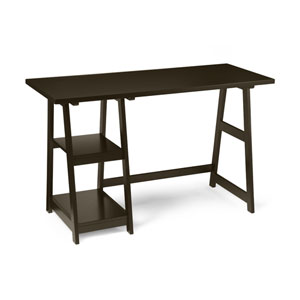 Designs2Go Espresso Trestle Desk