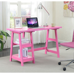 Designs2Go Trestle Desk in Pink
