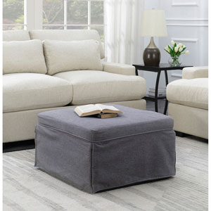Designs4Comfort Folding Bed Ottoman in Soft Gray