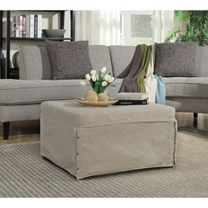 Designs4Comfort Folding Bed Ottoman in Soft Beige