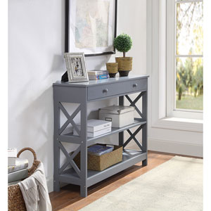 Oxford 1 Drawer Console Table in Gray