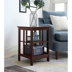 Mission End Table in Espresso