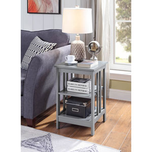 Mission End Table in Gray