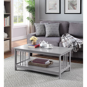 Mission Coffee Table in Gray
