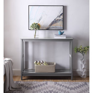 Mission Console Table in Gray