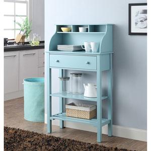 Designs2Go Office or Kitchen Storage Desk in Sea Foam