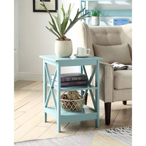 Oxford End Table in Sea Foam