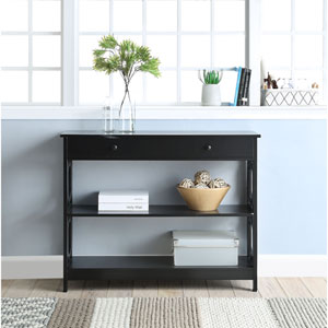Omega 1 Drawer Console Table in Black