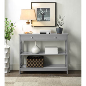 Omega 1 Drawer Console Table in Gray