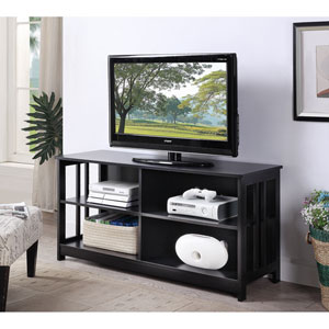 Mission TV Stand in Black