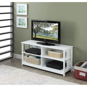Mission TV Stand in White