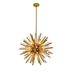Maxwell Burnished Brass 36-Inch 21-Light Chandelier