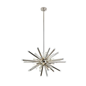 Maxwell Polished Nickel 38-Inch 14-Light Chandelier