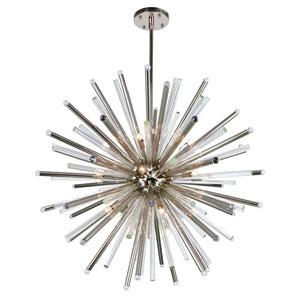 Maxwell Polished Nickel 48-Inch 21-Light Chandelier