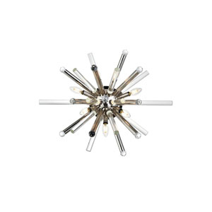 Maxwell Polished Nickel 26-Inch Seven-Light Wall Sconce