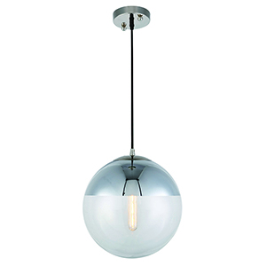Beckett Polished Nickel 12-Inch One-Light Pendant