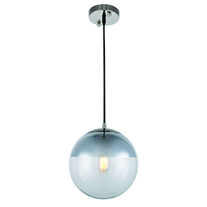 Beckett Polished Nickel One-Light Mini Pendant