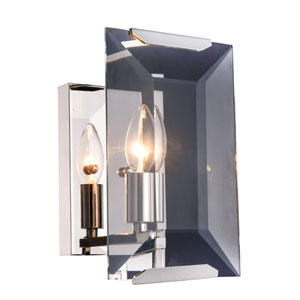 Monaco Polished Nickel Six-Inch One-Light Wall Sconce