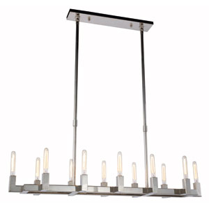 Corsica Polished Nickel 14-Inch 12-Light Island Chandelier