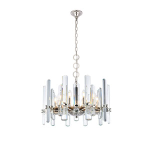 Lincoln Polished Nickel 25-Inch 10-Light Chandelier