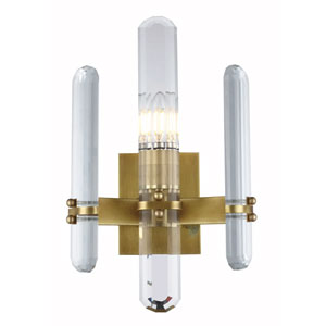 Lincoln Burnished Brass 10-Inch One-Light Wall Sconce