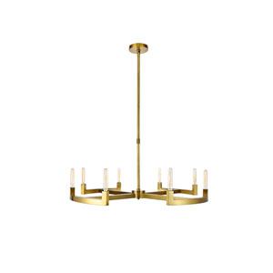 Corsica Burnished Brass 48-Inch Eight-Light Chandelier