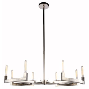 Corsica Polished Nickel 48-Inch Eight-Light Chandelier