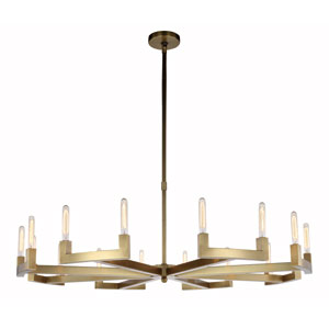 Corsica Burnished Brass 60-Inch 16-Light Chandelier
