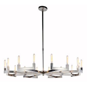 Corsica Polished Nickel 60-Inch 16-Light Chandelier