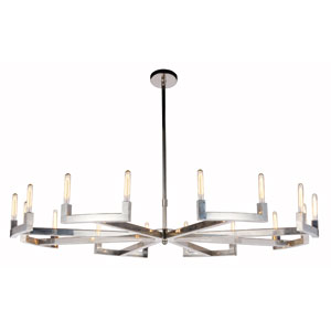 Corsica Polished Nickel 72-Inch 16-Light Chandelier