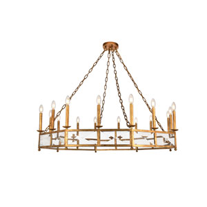 Exeter Golden Iron 16-Light Chandelier