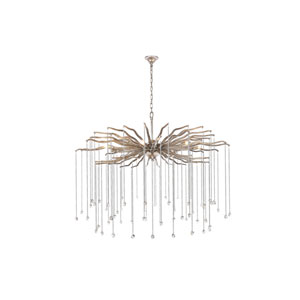 Willow Drizzled Antique Silver 42-Inch Seven-Light Chandelier