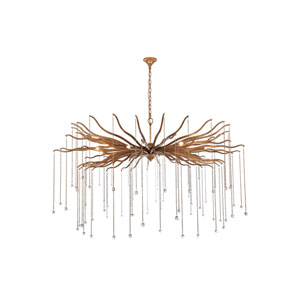 Willow Drizzled Antique Gold 60-Inch Eight-Light Chandelier