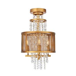 Legacy Golden Iron 12-Inch Three-Light Flush Mount