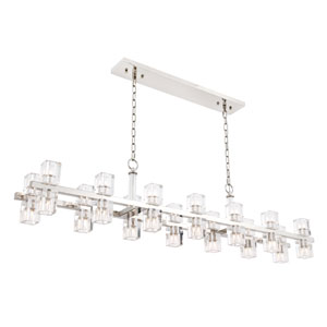 Chateau Polished Nickel 28-Light Island Pendant