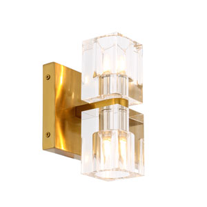 Chateau Burnished Brass Five-Inch Two-Light Wall Sconce