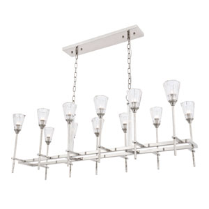 Soiree Polished Nickel 12-Light Island Pendant