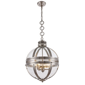 Casanova Satin Nickel 18-Inch Three-Light Pendant