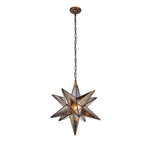 Orion Dark Antique Brass 18-Inch One-Light Pendant